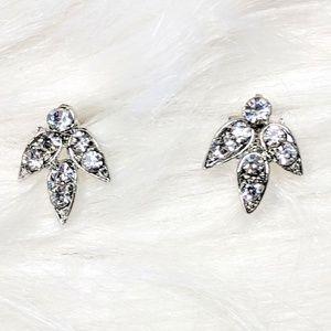 Tiny Rhinestone Stud Earrings